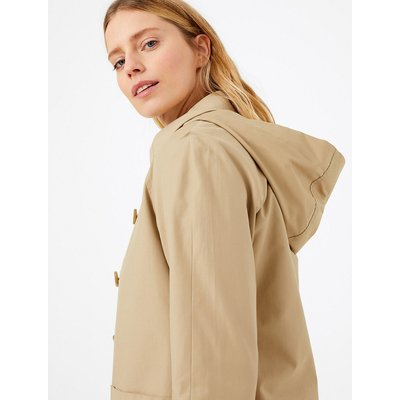 M&S Collection Cotton Rich Hooded Car Coat