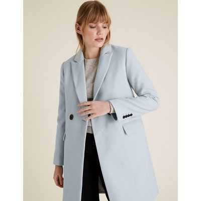 M&S Collection Soft Touch Double Breasted City Overcoat