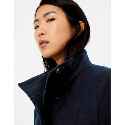 M&S Collection Soft Touch Belted Coat