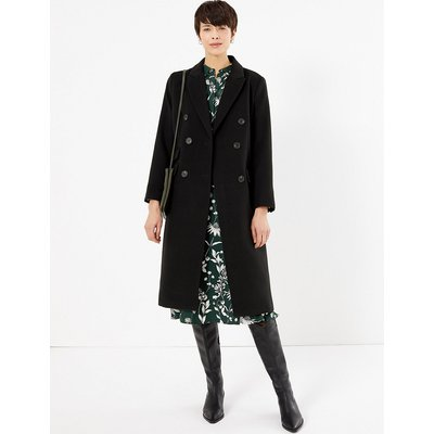 M&S Collection Double Breasted Longline Overcoat
