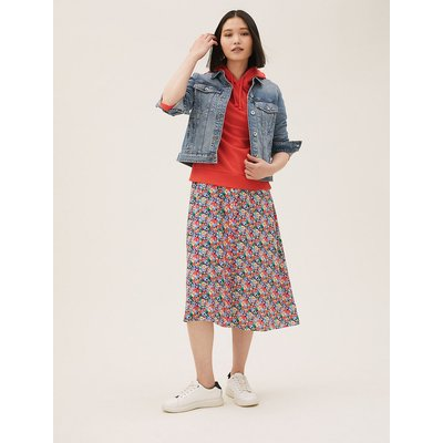 M&S Collection Pure Cotton Denim Jacket, Medium Indigo