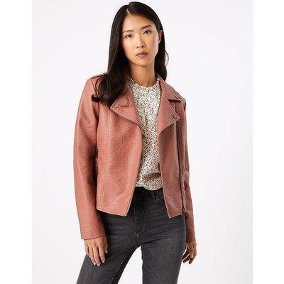 M&S Collection Faux Leather Biker Jacket