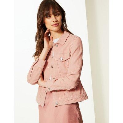 M&S Collection Pure Cotton Button Detailed Short Jacket