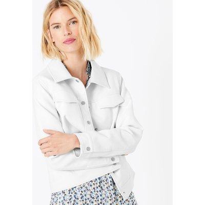 M&S Collection Button Detail Biker Jacket