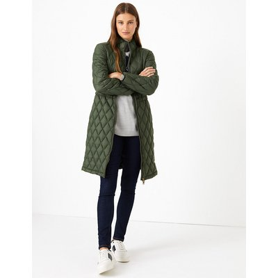M&S Collection Longline Quilted Coat
