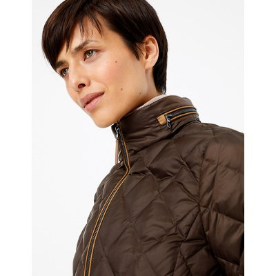 M&S Collection Quilted Down & Feather Coat