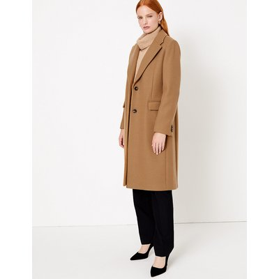 Autograph Wool Blend Single Breasted Coat
