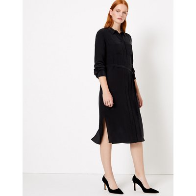Autograph Pure Silk Midi Shirt Dress