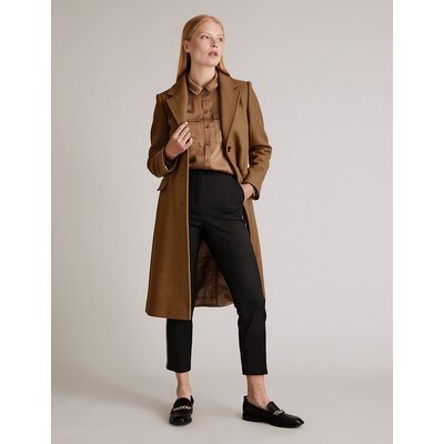 Autograph Wool Tailored Coat with Cashmere
