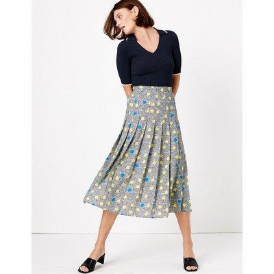 Autograph Polka Dot Midi Pleated skirt