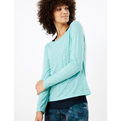 M&S Collection Double Layer Quick Dry Long Sleeve Top