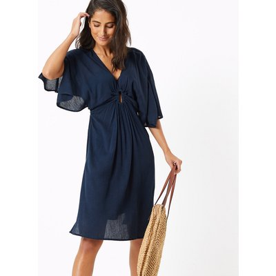 M&S Collection Cotton Rich Woven 3/4 Sleeve Kaftan