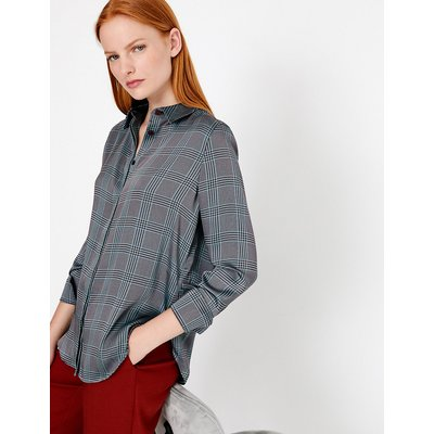 Autograph Satin Checked Blouse