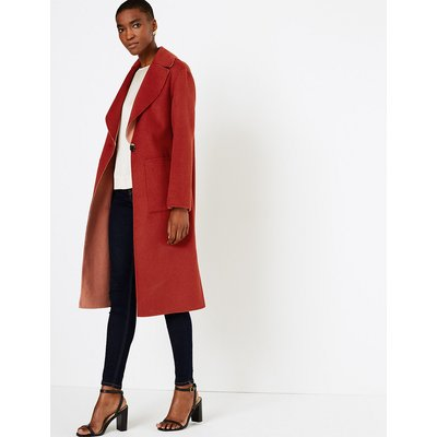 Autograph Wool Blend Reversible Overcoat