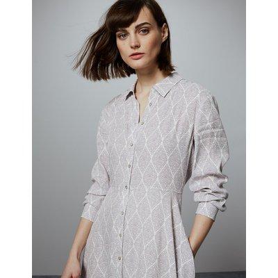 Autograph Printed Shirt Midi Dress