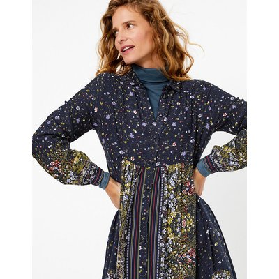 Per Una Floral Print Midi Shirt Dress