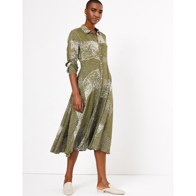 Autograph Printed Midi Shirt Dress
