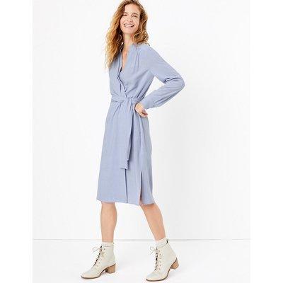 Per Una Wrap Tie Midi Dress with Pockets