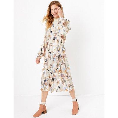 Per Una Satin Printed Relaxed Midi Dress