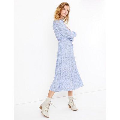 Per Una Printed Tiered Midi Shirt Dress