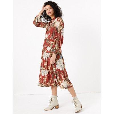 Per Una Tropical Print Shirt Midi Dress