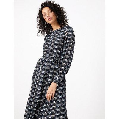 Per Una Printed Tie Waist Midi Dress