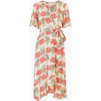 Per Una Floral Print Midi Wrap Dress
