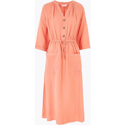 Per Una Linen Blend Midaxi Waisted Dress