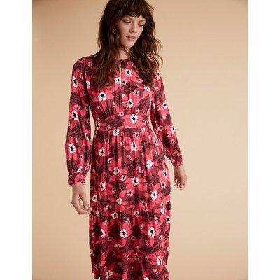 Per Una Crepe Floral Waisted Dress