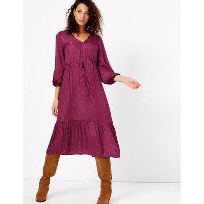 Per Una Printed Smock Waisted Midi Dress