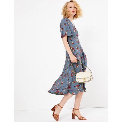 Per Una Floral Print Wrap Midi Dress