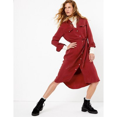 Per Una Cupro Midi Shirt Dress