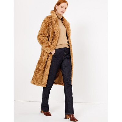 Autograph Faux Fur Boyfriend Teddy Coat