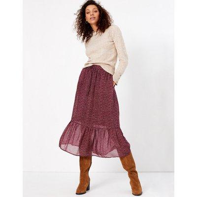 Per Una Floral Tiered Midi Skirt