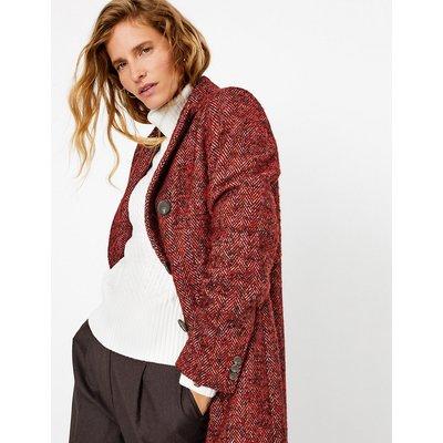 Per Una Herringbone Longline Double Breasted Coat