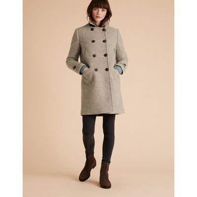 Per Una Wool Double Breasted Pea Coat