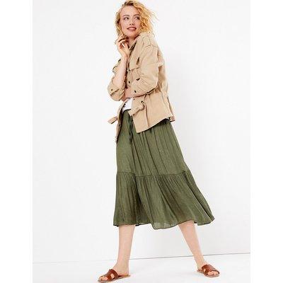 Per Una Satin Jacquard A Line Midi Skirt