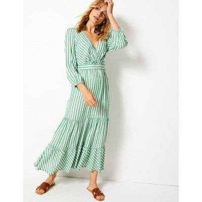 Per Una Striped Waisted Maxi Dress