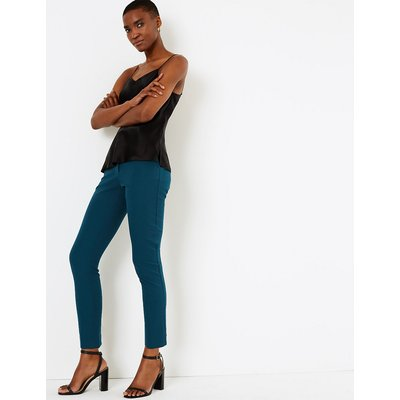 Autograph Cotton Rich Slim Leg Ankle Grazer Trousers