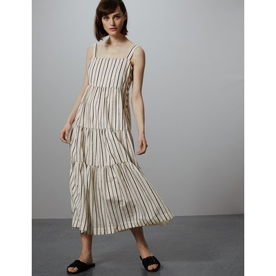 Autograph Striped Relaxed Maxi Dress