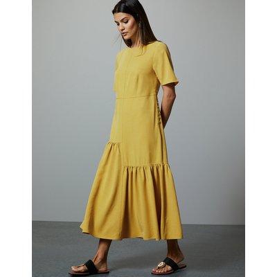 Autograph Asymmetric Relaxed Midi Dress