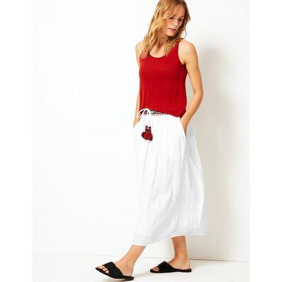 Per Una Pure Cotton A-Line Midi Skirt