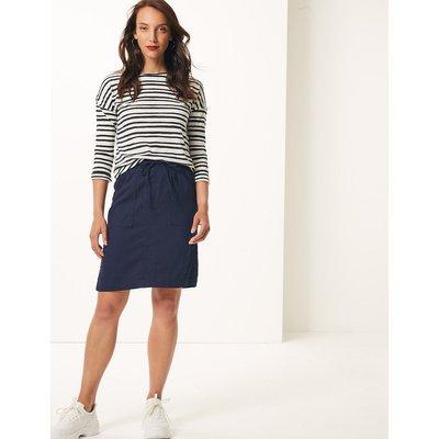 M&S Collection Linen Rich A-Line Skirt