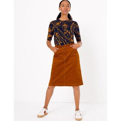 M&S Collection Cotton Rich A-Line Skirt