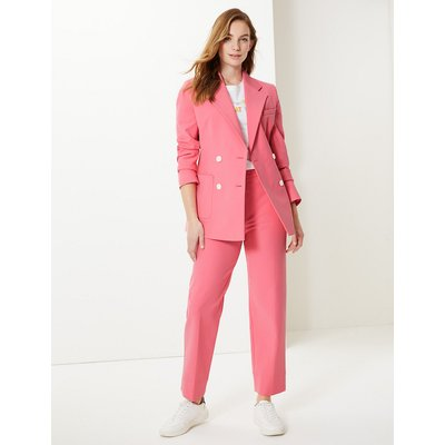M&S Collection Cotton Rich Double Breasted Blazer
