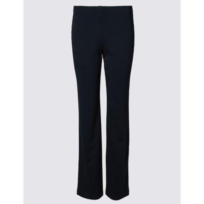 Jersey Straight Leg Trousers navy