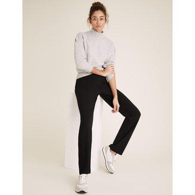 Jersey Straight Leg Trousers black