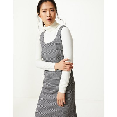 M&S Collection Gingham Midi Pinafore Dress