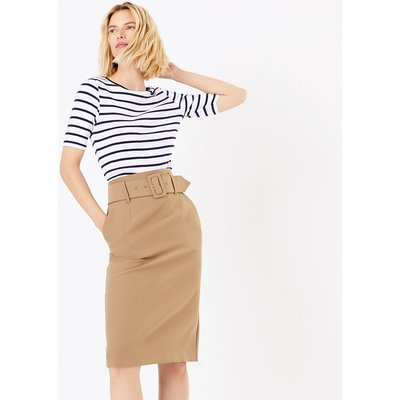 M&S Collection Belted Pencil Skirt