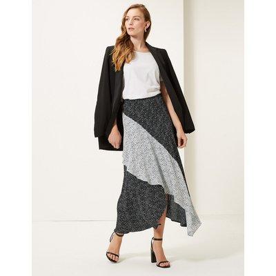 M&S Collection Polka Dot Wrap Style Midi Skirt